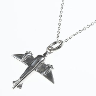 La Preciosa Sterling Silver Airplane Necklace