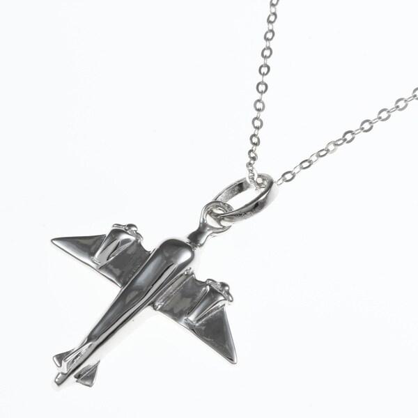 La Preciosa Sterling Silver Airplane Necklace