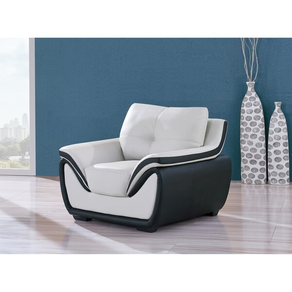 Shop Grey Black Bonded Leather Chair Free Shipping