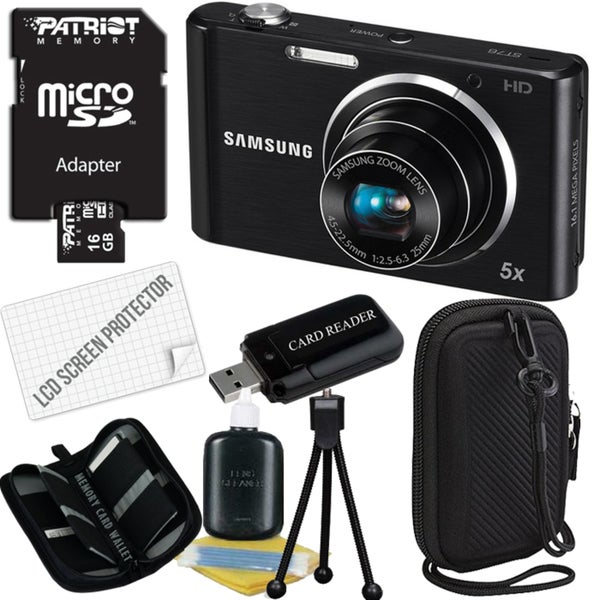 Samsung ST76 16.1MP Digital Camera with 16GB Bundle