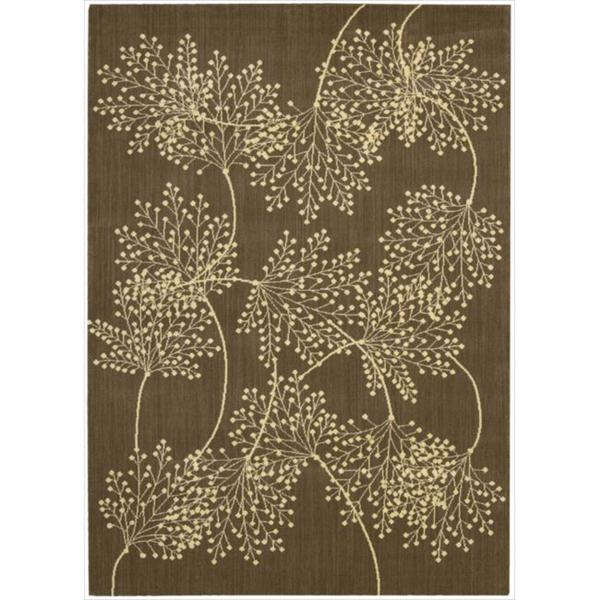 Capri Chocolate Wool-blend Rug - 5'3 x 7'5