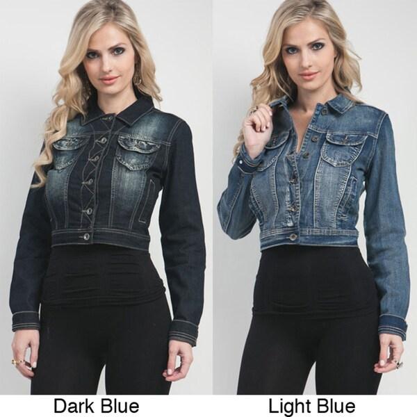 Stanzino Women's Cropped Stretch Denim Jacket