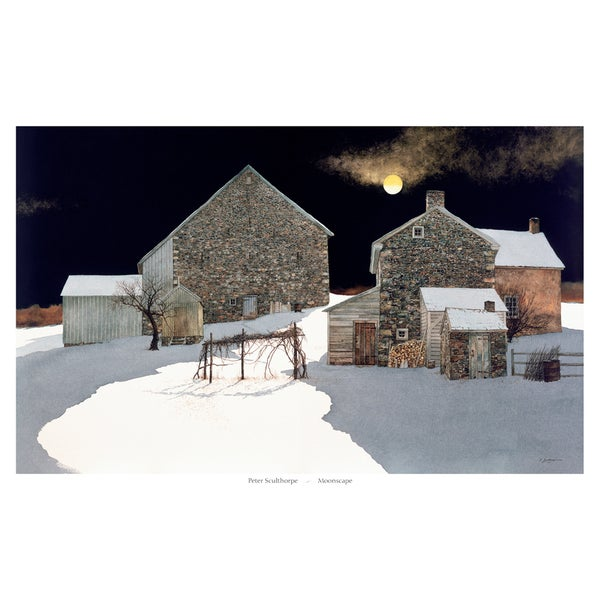 Peter Sculthorpe 'Moonscape'  Paper Print (Unframed)