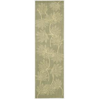 Capri Sage Wool-blend Runner Rug (2'3 x 8')