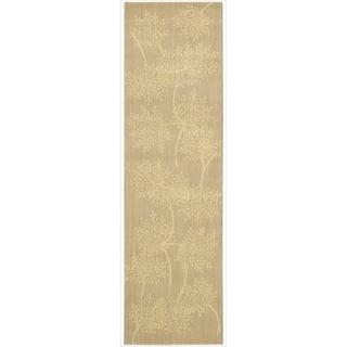 Capri Sand Wool-blend Runner Rug (2'3 x 8')
