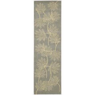 Capri Slate Wool-blend Runner Rug (2'3 x 8')
