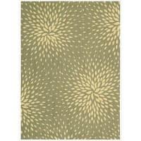 Capri Light Green Wool-blend Rug - 5'3 x 7'5