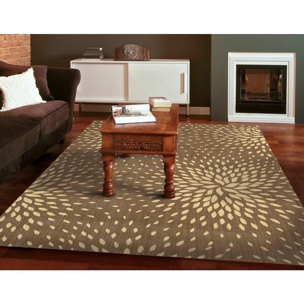 Capri Mocha Wool-blend Rug - 5'3 x 7'5