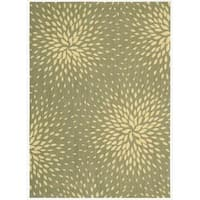 Capri Light Green Wool-blend Rug - 3'6 x 5'6