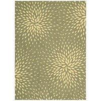 Capri Light Green Wool-blend Rug (7'9 x 10'10)