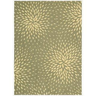 Capri Light Green Wool-blend Rug (9'6 x 13')