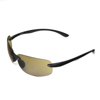 Hot Optix Men's High-contrast Rimless Wrap Sunglass
