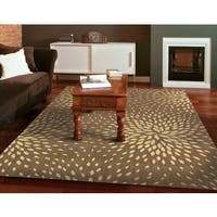 Capri Mocha Wool-blend Rug (7'9 x 10'10)