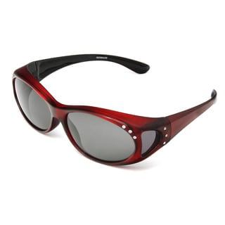 Hot Optix Women's Polarized Jeweled Over-the-Glass Sunglasses
