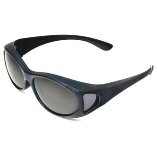 Hot Optix Women's Polarized Over-the-Glass Wrap Sunglass (Option: Blue/Smoke - Blue - Smoke)