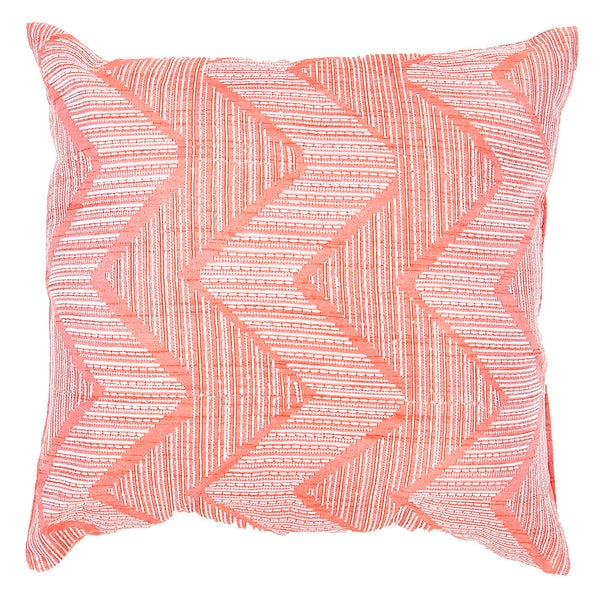 Square Pink Chevron Contemporary Throw Pillows (Set of 2)