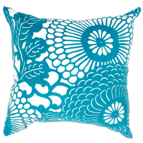 True Modern Pillows : Contemporary Poly Dupione Blue Square Pillows (Set of 2) - Free Shipping Today - Overstock.com ...