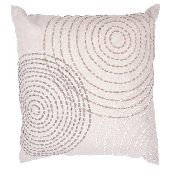 Contemporary Cotton Ivory/ Purple Square Pillows (Set of 2)