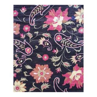 Handmade Herat Oriental Indo Tibetan Wool Rug (India) - 8' x 10'