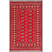 Handmade Herat Oriental Pakistani Bokhara Wool Rug (Pakistan) - 4' x 6'2