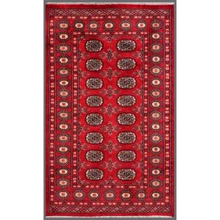 Herat Oriental Pakistani Hand-knotted Bokhara Wool Rug (3'1 x 5')