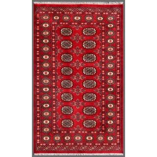 Handmade Bokhara Wool Rug (Pakistan) - 3'1 x 5'
