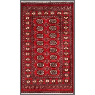 Herat Oriental Pakistani Hand-knotted Bokhara Wool Rug (3' x 5'3)