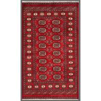Handmade Herat Oriental Pakistani Bokhara Wool Rug  - 3' x 5'2 (Pakistan)