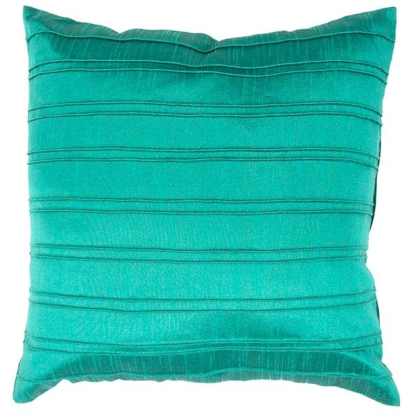 Contemporary Green / Blue Square Pillows (Set of 2)