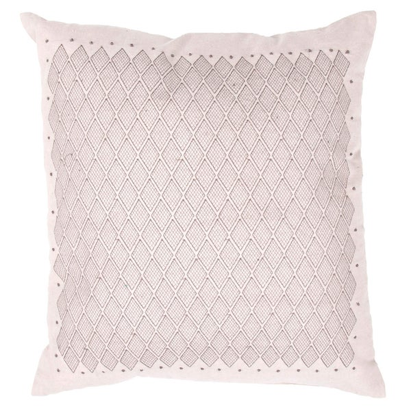 Grey/ Ivory Square Pillows (Set of 2)