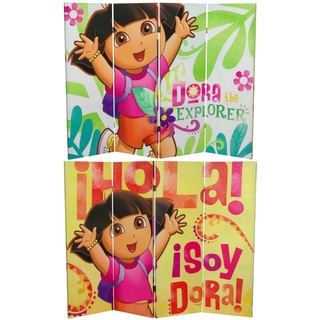 4-Foot Tall Double Sided Dora the Explorer Canvas Room Divider