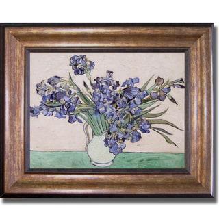 Vincent Van Gogh 'Les Iris' Framed Canvas Art