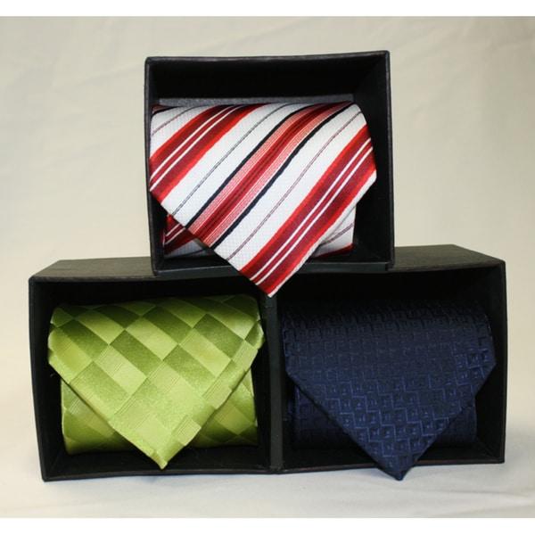 Ferrecci Microfiber 4-Inch Neckties (Pack of 3)
