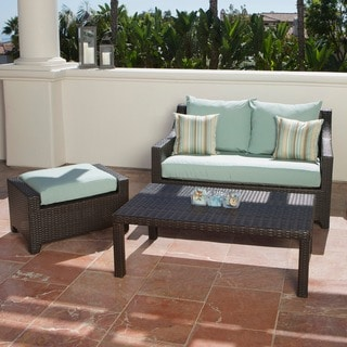 Red Star Brands Love Seat and Ottoman Set