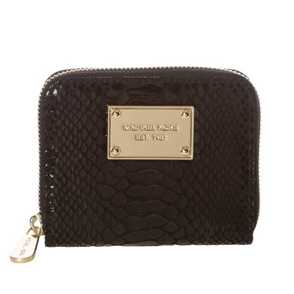 MICHAEL Michael Kors 32F1GJSZ1G 001 Patent Leather Python Embossed Wallet