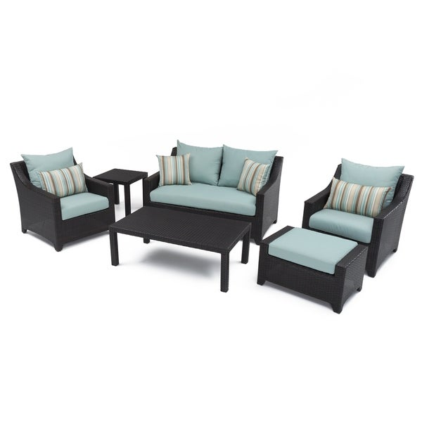 RST Brands Bliss 6 Piece Loveseat, Chairs And Ottomans Patio Set