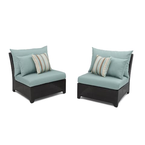 RST Brands Bliss Patio Furniture Armless Chairs (Set of 2)