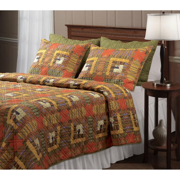 Greenland Home Fashions Lakewood Lodge 3-piece Quilt Set