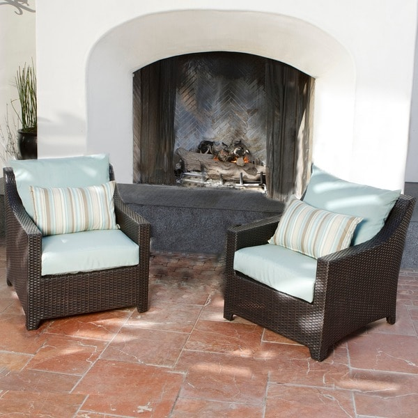 RST Brands Bliss Patio Furniture Club Chairs (Set Of 2)