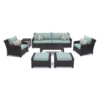 RST Brands Bliss 8-piece Sofa, Club Chair and Ottomans Patio Set with Accent Pillows|https://ak1.ostkcdn.com/images/products/7630435/P15049197.jpg?impolicy=medium