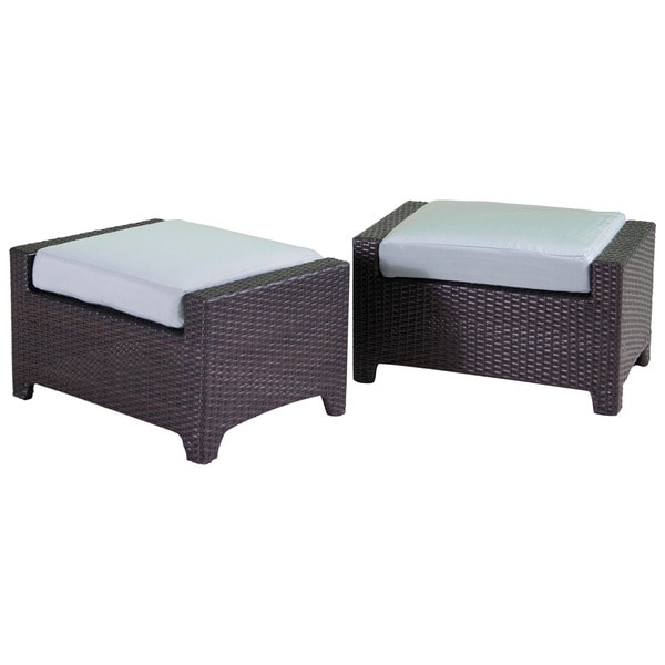 Shop RST Brands Bliss Patio Club Ottoman (Set of 2) - On ...