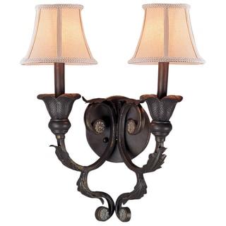Crystorama Winslow 2-light Dark Rust Wall Sconce