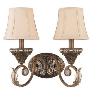 Crystorama Roosevelt Collection 2-light Weathered Patina Wall Sconce