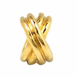 De Buman Gold Plated Sterling Silver Double Halo Charm Bead