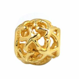 De Buman Gold Plated Sterling Silver Starfish Charm Bead