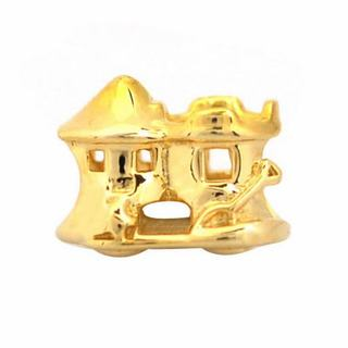 De Buman Gold Plated Sterling Silver Sand Castle Charm Bead