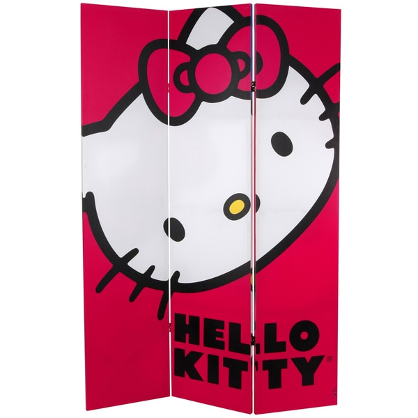 6-Foot Tall Double Sided Hello Kitty Classic Canvas Room Divider