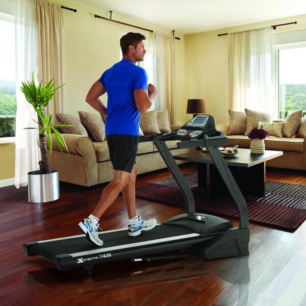 XTERRA TR6.55 Black Folding Treadmill