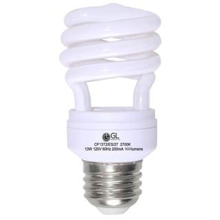 Goodlite® G-10843 13-Watt CFL 60 Watt Replacement 900-Lumen T2 Spiral Light Bulb 12,000 Hour Life Daylight (Case of 25)