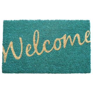 Cursive Welcome Coir Doormat